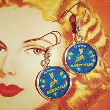 Unique BABYCHAM EARRINGS  mixed up dolly DESIGNER drink VINTAGE somerset RETRO