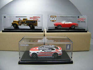 Matchbox 2016 Leipzig Fair models 2012,2013 & 2016 BMW Fire Engine & Karmann