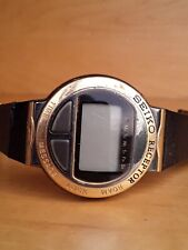 MA51 4A10 SEIKO RECEPTOR 1980s PAGER GOLD DIGITAL WATCH VINTAGE PORTLAND OR WOW