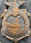 WW1 US Ship Building Service Badge Numbered