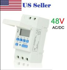 48V AC/DC 16A Digital LCD DIN Programmable Weekly Rail Timer Time Relay Switch