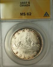 1937 Canada Silver $1 Dollar Coin King George VI ANACS MS-62