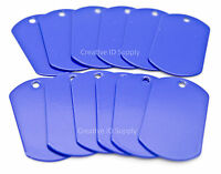 100 Blue Blank Military Spec Dog tags Blank Stainless Steel Wholesale tag