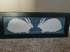 Warren Kimble American Folk Art Bunnies 20x7 Framed Print