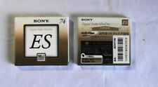 Rare SONY Music MD Mini-Disc 74 minutes 5 pieces ES series 5MDW-74M 2 packs F/S