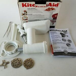 KitchenAid Food Meat Grinder Attachment FGA With Manual