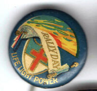 CHRISTIAN old pin button Rally Day pinback Light Life Power SundaySschool