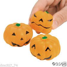 24 HALLOWEEN Party Favors JACK O LANTERN Pumpkin MINI STRESS BALLS Toys