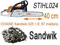 CHAINE sandwik pour tronconneuse STHIL 024 coupe de 40 cm  325 1.6 67  piece nv