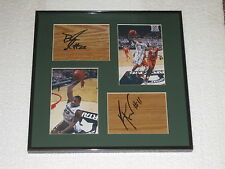 Keith Appling Brandon Dawson Signed Floorboards Michigan State Basketball COA