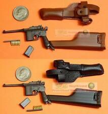 1:6 Scale Action Figure DRAGON BOLO MAUSER BROOMHANDLE PISTOL GUN C96_1+2