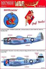 Kits World Decals 1/48 REPUBLIC P-47D THUNDERBOLT Buzzin Cuzzin & Phyl Darlin'