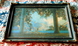 Original 1920s Maxfield Parrish Daybreak Lithograph House of Art NY 20 1/2 x 13