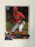 JUAN SOTO 2018 Bowman Chrome ROOKIE BASE RC #BCP52! NATIONALS! CHECK MY ITEMS!