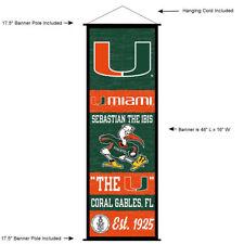University of Miami Hurricanes Room Banner Poster Art Canvas