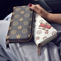Fashion Women Leather Wallet Long Clutch Handbag Zipper Card Holder Phone Purse