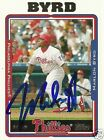 Marlon Byrd Signed 2005 Topps Philadelphia Phillies Card -COA - Cincinnati Reds