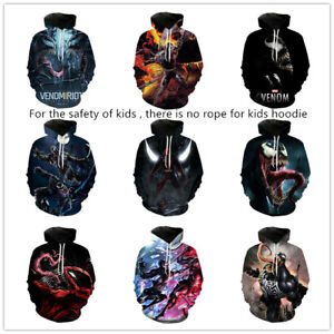 Kid's Venom: Let There Be Carnage 3D printed hoodie pullover autumn casual coat