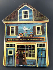 "Bradex Wysocki Folktown Collectable Plate ""The Stoolpidgeon Gossip Shop"" W6-4)"