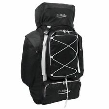 Large 80 Litre Camping Hiking Travel Holiday Rucksack Backpack Luggage Bag Black