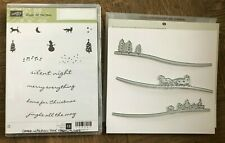 Stampin Up retired JINGLE ALL THE WAY stamps & SLEIGH RIDE Edgelits bundle Dies