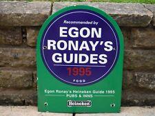 """1995 HEAVY ENAMEL """"EGON RONAY'S GUIDE"""" HEINEKEN  BREWERY SIGN    Lager Beer"""
