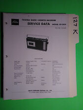 Toshiba rt-291f service manual original repair book tape deck radio