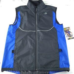 GOLDS GYM Full Zip Outdoor Cycling Running Reflective Vest Jacket Men's S/M