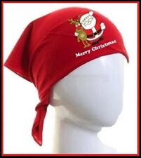 MERRY CHRISTMAS Buddies RED BANDANA 50x50cm Ideal to wear with Chemo Hair Loss