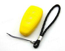 Yellow Silicone Case Cover For Ford Fiesta CMax Titanium Mendeo Remote Smart Key
