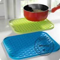 Colorful Silicone Potholder Anti hot Insulation Pad Table Mat Waterproof Coaster