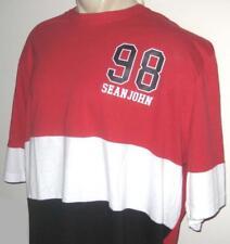 NEW 4XB SEAN JOHN MENS T SHIRT Tee Red Black White Short Sleeve 4XL 4X