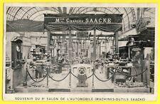cpa Rare PARIS 8e SALON AUTOMOBILE Stand MACHINES OUTILS Maison Charles SAACKE