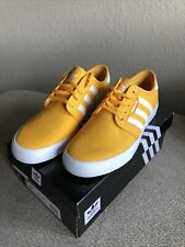 adidas Originals Men's Seeley Skate Shoes, Yellow/white, Size 9 1/2 Limited