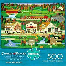 NEW Charles Wysocki  500 Piece Jigsaw Puzzle YANKEE WINK HOLLOW  Buffalo Games