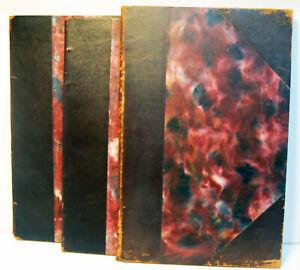 3 LIVRES d 'OR-1938 / 47 & 51- Maurice BESSY  -  RARETE muséographique - TBE
