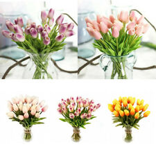 7 Colors Real Touch Flowers Tulips Centerpieces Bridal Wedding Supplies Party US