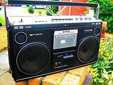 Hitachi TRK-8080E portátil estéreo/Ghetto Blaster/Radio Boombox Ideal Retro Shop