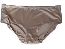 Jones Newyork Soft Satin PANTIE UK SIZE 14 / 16 Nude Full Brief HI-WAIST KNICKER