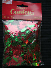 Borsa grande HOLLY Berry & Poinsettia Natale Tavolo Coriandoli Decorazione sprinkles