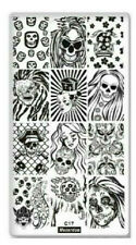 Nail Art Image Stamping Plate with Backing Manicure Pedicure Tool Stamp Skull