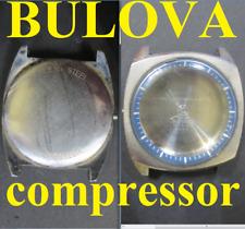 cassa bulova compressor 313813 6 70 363 esa 9162 case watch old oversize steel