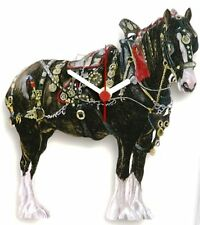 Shire Horse Collectable Wooden Wall Clock Shooting Gift