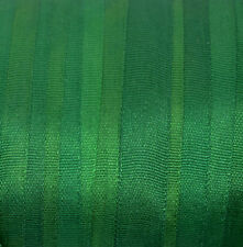 Silk Ribbon 7mm 100% Pure Embroidery Green - Hand Dyed Emerald Green - 3 mtr