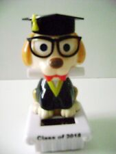 Solar Powered Dancing Graduation Dog Class of 2018 Bobble Head Toy with Hat