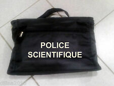 SACOCHE PORTE DOCUMENT PORTABLE 25x38cm  POLICE SCIENTIFIQUE