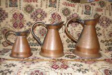 Antique vintage copper harvest jugs. Large size.