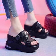 Womens Platform Wedge Sport Sandals High Heel Open Toe Slippers Gladiators Shoes