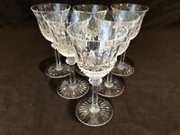 """Saint St. Louis Crystal Tommy Burgundy Wine Goblet Glass 6 3/4"""" H Set of 6 As Is"""