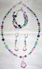 New Swarovski Crystal Necklace, Bracelet, & Earring Set - 3 piece